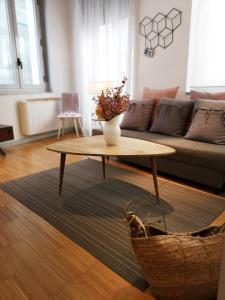 Ein Sitzbereich in der Unterkunft Apartamentos Moratín Las Letras