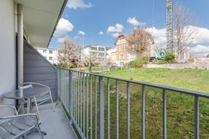 A balcony or terrace at Anstatthotel.ch Hochdorf