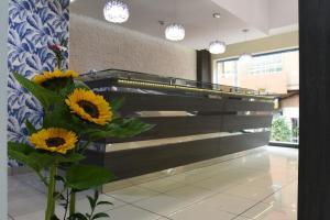 The lobby or reception area at Apartamentos Tinoca