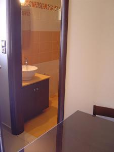 A bathroom at Akti Villas