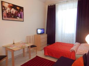 A television and/or entertainment center at Apartments U Staropramenu