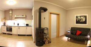 Dapur atau dapur kecil di Apartman Prague