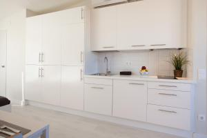A kitchen or kitchenette at Centric Apartment National Palace