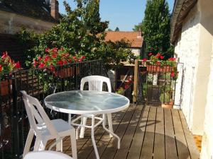 Balcon ou terrasse dans l'établissement Gîtes de L'Oasis