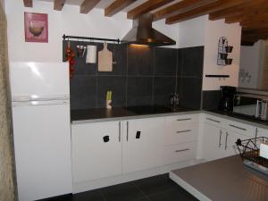 Cuisine ou kitchenette dans l'établissement Gîte du Vieux Pressoir