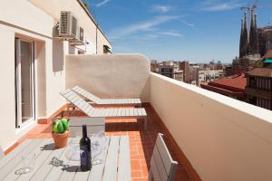 A balcony or terrace at Casa Vilà