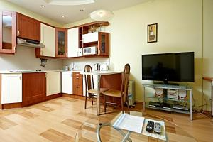 A television and/or entertainment center at Oksana's Apartments - Nevsky 88