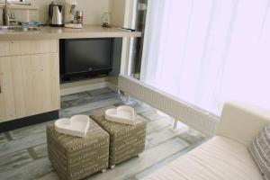 A television and/or entertainment center at Apartment Silvamare