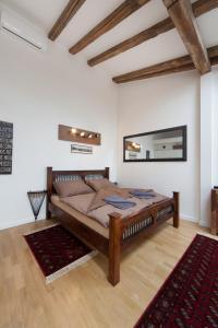 Ein Sitzbereich in der Unterkunft Apartment Soukenicka