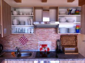 Küche/Küchenzeile in der Unterkunft Ferienwohnung Beni