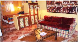 A seating area at Cortijo Zalamea