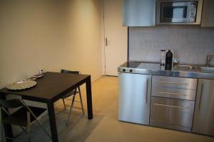 Kjøkken eller kjøkkenkrok på Compact Concepts Studio