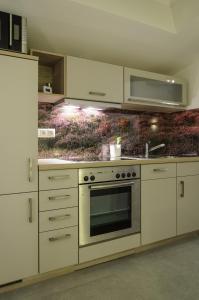 A kitchen or kitchenette at Ferienwohnung Radebeul Gerlach