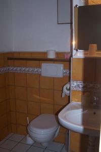 Salle de bains dans l'établissement Domaine de Salomony