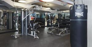 The fitness center and/or fitness facilities at Oakwood at the Nash