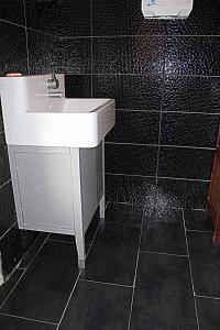 Ett badrum på Cambiare Hoeve