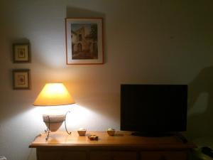 A television and/or entertainment center at Casa Lea