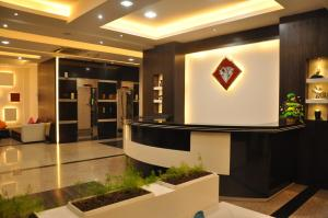 The lobby or reception area at Crystal Suites