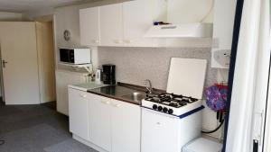 Cuisine ou kitchenette dans l'établissement Appartement in Zandvoort