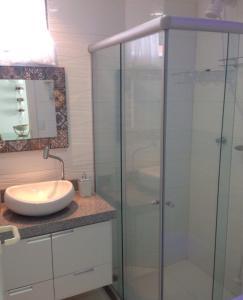 A bathroom at Flat 608 Villa Hípica - Gravatá