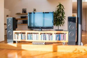 A television and/or entertainment center at Apartment Penthouse Festina Lente