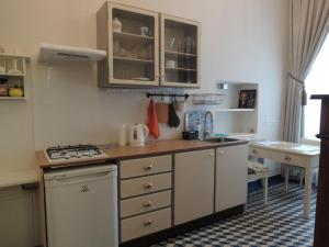 A kitchen or kitchenette at Dwór Udrycze - Apartment Teresa