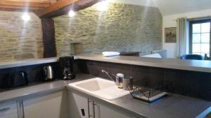 Salle de bains dans l'établissement Gîte du Vieux Pressoir