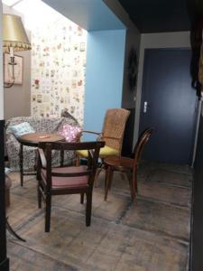 Część wypoczynkowa w obiekcie Les Mini-lofts de Paul et Virginie
