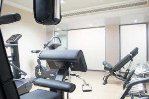 Posilňovňa alebo fitness centrum v ubytovaní Aparthotel Acualandia
