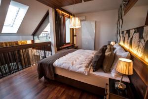 Posteľ alebo postele v izbe v ubytovaní Zuckmann Villa
