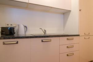 A kitchen or kitchenette at Parkers Boutique Apartments - Old Town Square