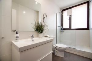 A bathroom at Happy People Sagrada Familia St Pau