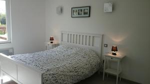 Un ou plusieurs lits dans un hébergement de l'établissement Gîte Les Sources de l'Andelle
