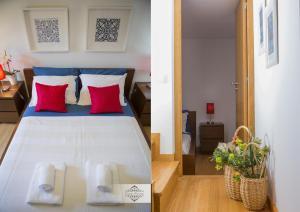 Uma cama ou camas num quarto em Casa da Ferreirinha