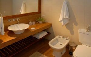 A bathroom at Bariloche Down Town Apartment