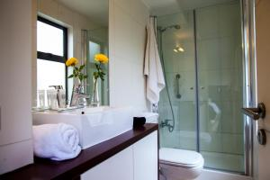 A bathroom at Heidelberg Haus Apart Hotel