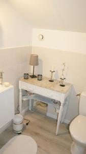 Salle de bains dans l'établissement Cals le Gîte