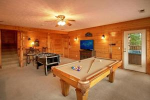 A pool table at Heavenly Heights Holiday home