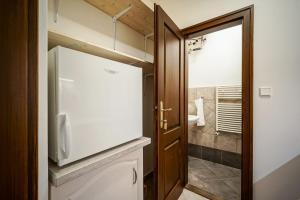 A bathroom at Apartmány Nerudova 36