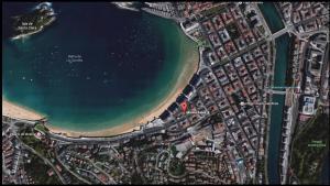 A bird's-eye view of Marina Beach Apartment