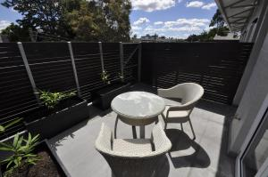 A patio or other outdoor area at Glebe Self-Contained Modern One-Bedroom Apartment (3COW)
