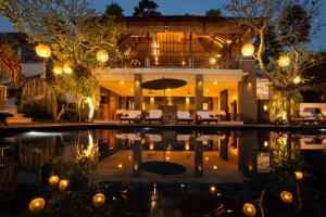 The lounge or bar area at Alam Ubud Culture Villa And Residence