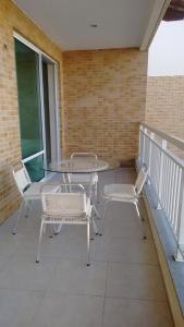 A porch or other outdoor area at Ap Paraiso das Dunas - Pé na areia