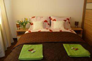 A bed or beds in a room at Apartament Bella Nova Centrum