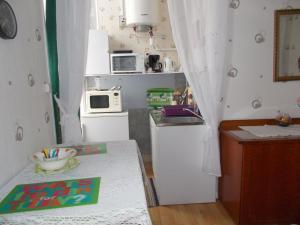 Cuisine ou kitchenette dans l'établissement Résidence Central Hôtel