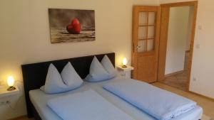 Ein Zimmer in der Unterkunft Ferienwohnung mit Bergblick