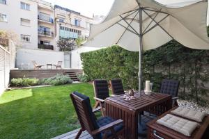 A porch or other outdoor area at Apartment Barcelona Rentals - Private Pool and Garden Center