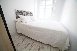 A bed or beds in a room at Apartments Madrid Las Letras