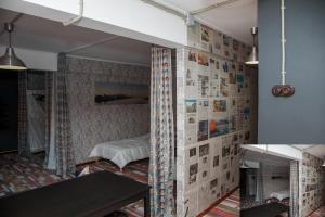 Двухъярусная кровать или двухъярусные кровати в номере Apartment Kalina at Kirova 18