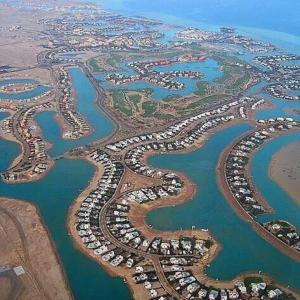 Een luchtfoto van Twin Lagoon Apartment at White Villas El Gouna